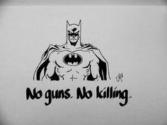 Batman - No guns. No killing. by MadeByMV