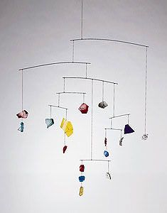 """Untitled, c. 1944   Pottery shards, glass shards, Plexiglas, wire, and string   34"""" x 31"""" x 26""""   Private Collection, Detroit   A09591    Photo: Calder Foundation"""