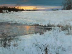 """February Meadow Glow"" oil by Peter Fiore"