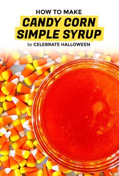 in an effort to help maximize consumption of classic halloween candy corn weve melted it down into a hypnotic orange candy corn simple syrup for