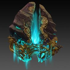 Stone of souls. Captured souls are worth a lot, this stone contains all souls collected by weapons connected to it. Fantasy Weapons, Fantasy Rpg, Fantasy World, Prop Design, Game Design, Hand Painted Textures, Game Concept Art, Environment Concept Art, Fantasy Inspiration