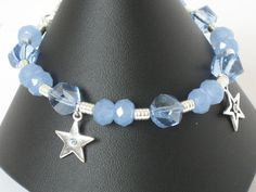 Blue & Silver Star Mother Daughter Charm by sweetdreamzdesigns, $35.50
