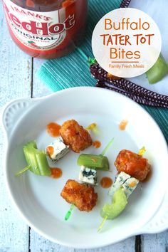 Now if you love tots as much as I do, you are gonna love these Buffalo Tater Tot Bites. These small bites pack so much flavor and are super easy to make.