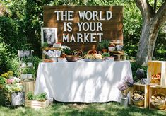 """The World is Your Market"" Graduation Party Theme - Evite"