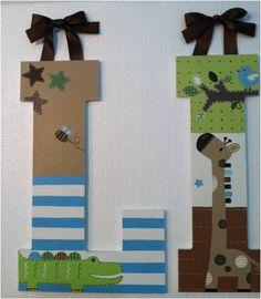 Hand-Painted Nursery Letters