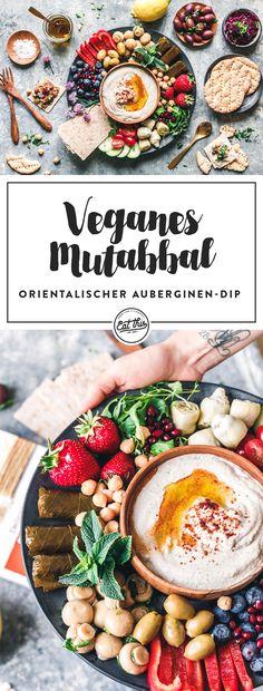 Mutabbal darf auf der Mezze-Platte nicht fehlen. Der Auberginen-Dip ist traumhaft kremig, rauchig und einfach lecker. Super-lecker auch zum nächsten BBQ!
