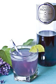Spring Flowers Cocktail Recipe with Lilac Syrup (maybe with a dark rum)