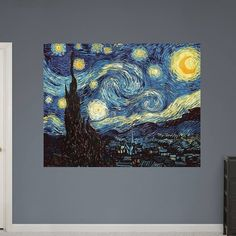 "Fathead Wall Decal, ""The Starry Night"" Wall Vinyl"