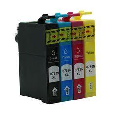 4pcs/Set T0731N-T0734N Full Ink Cartridge For Epson Stylus T13 TX121 C79 C90 C92 C110 CX3900 #Affiliate