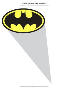 Free Batman Symbol download, lots of free Superhero printables