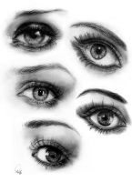 Just some eye practice. What do you think? Which one is your favorite? Your least favorite? I used various reference pictures from the inte. Those Lovely Lamps Dark Art Drawings, Horse Drawings, Eye Drawings, Parts Of The Eye, Anatomy Sketches, You Draw, Drawing Lessons, Black Pencil, Detailed Image