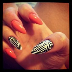 I can't even get jiggy with the pointy nail thing but I LOVE this. polishedandcurled...