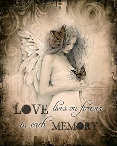 LOVE LIVES ON Rememberance sympathy healing by TheVictorianGarden, $10.00