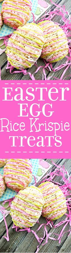 Easter Egg Rice Krispie Treats - Cute, bright Easter Egg Rice Krispie ...