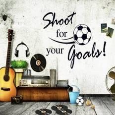 Soccer Ball Football shoot goal Decal Kids Room Decor Sport Boy Art Bedroom PVC Wall Sticker Letters