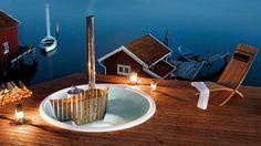 Skargards Terrass - Schwedische Outdoor Badewanne für den Einbau - Skargards Hot Tubs
