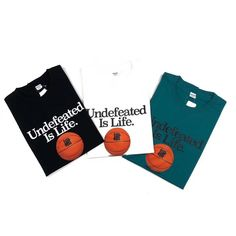 Undefeated IS Life Tee Undftd supports all basketball devotees for their love for the sport of basketball. Streetwear Fashion, Street Wear, Basketball, Street Style, Sport, Tees, How To Wear, Life, High Street Fashion