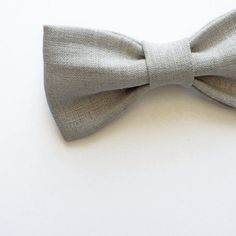 Natural Unbleached Linen Bow tie by FlyTiesforFlyGuys on Etsy