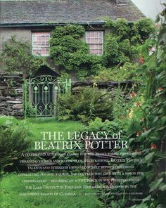 Beatrix Potter - http://www.literarytraveler.com/articles/beatrix-potter-lake-district/