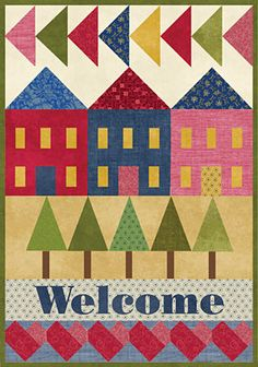 Show your love of quilting and welcome family and friends to your home with the Welcome Wall Hanging Pattern, FREE at Connecting Threads!