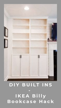 New Screen DIY Built Ins - IKEA Billy Bookcase Hack Strategies Investing in a well-designed couch is a big decision and not just one to produce lightly. Built In Around Fireplace, Fireplace Built Ins, Fireplace Bookcase, Built In Shelves Living Room, Built In Bookcase, Diy Built In Shelves, Barrister Bookcase, Closet Built Ins, Crate Shelves
