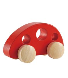 Buy your Hape Little Bus Red from Kiddicare Wooden Toys| Online baby shop | Nursery Equipment