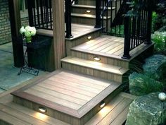 Outdoor deck lighting is essential for decking and other outdoor facilities. Outdoor deck lighting is specialized lighting and key to perfect restorative ambiance. Outdoor Deck Lighting, Outdoor Light Fixtures, Outdoor Decor, Deck Stair Lights, Deck Stairs, Solar Step Lights, Stairway Lighting, Interior Led Lights, Diy Deck