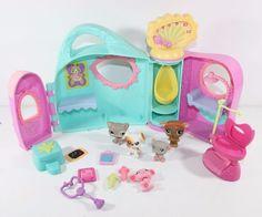 Littlest Pet Shop LPS Get Better Center Playset Pets Dog Accessories Lot 2 #Hasbro