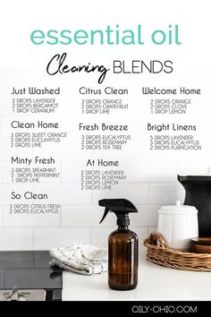 Everyone likes a clean, fresh smelling home. And the best essential oils for cleaning can do just that! Grab our free printable of cleaning essential oil blends. Essential Oil Cleaner, Essential Oil Spray, Essential Oils Guide, Essential Oils Cleaning, Essential Oil Diffuser Blends, Doterra Essential Oils, Young Living Essential Oils, Mixing Essential Oils, Essential Oil Combinations