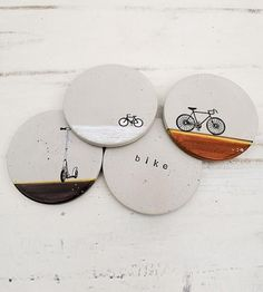Bicycle Concrete Coasters – Set of 4 | Home Kitchen & Pantry | MDC Interiors | Scoutmob Shoppe | Product Detail
