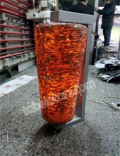 metal aksamı krom paslanmaz ışık yanan bölüm fiber baskı led aydınlatmalı ekseni etrafında dönen ışıklı dönerci tabelası İlgili