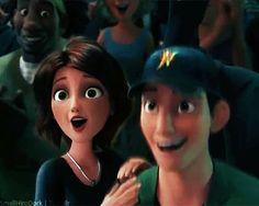Tadashi cheering for Hiro  -- That's okay, I didn't need my heart anyway.