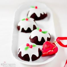 Seriously awesome Chocolate Christmas Pudding Cupcakes.