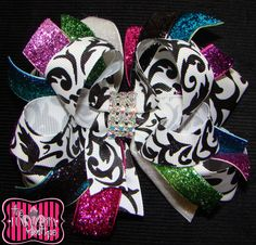 Glitter Glitter Oh My Funky Fabulous Boutique Hair Bow by The Funky Zebra Boutique www.funkyzebraboutique.com