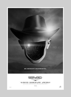 Westworld - Poster inspired by the 1973 classic. Artwork by Alex Murray Studio ©