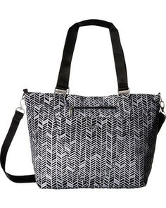 """AvenueTote, from Baggallini. 52"""" removable, adjustable crossbody straps, 11"""" drop shoulder straps Lightweight, water-resistant nylon or printed fabric Interior"""