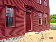 saltbox house exterior | Carriage house is progressing nicely. Exterior ship-lap sidingstill in ...