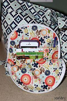 sewVery: Airport Sling Bag featuring Woodland Spring fabrics from #RileyBlakeDesigns #iloverileyblake #designbydani #woodlandspring