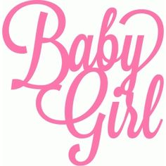 Silhouette Design Store - View Design #40901: baby girl script lettering title