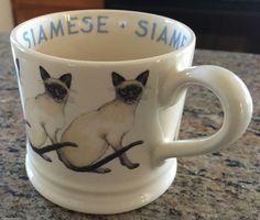 RARE First Issue! Emma Bridgewater: Cats & Dogs - Siamese Cat Baby Mug!   eBay