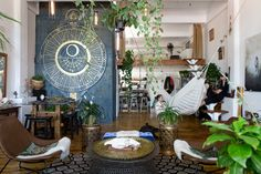 An Incredibly One-of-a-Kind Plant-Filled Brooklyn Loft - Astrologie Brooklyn, Gravity Home, Bedroom Plants, Interior Decorating, Interior Design, Boho Decor, Home And Living, Living Spaces, Sweet Home