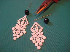 DIY Lace Earrings (so simple, must try!)