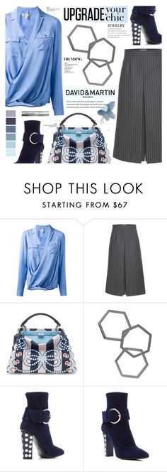 """""""David and Martin Jewellery 13"""" by cly88 ❤ liked on Polyvore featuring MICHAEL Michael Kors, Yves Saint Laurent, Fendi, Giuseppe Zanotti and Bobbi Brown Cosmetics"""