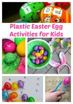 Leftover Easter Eggs? Here are plastic Easter egg activities for kids! -The Jenny Evolution