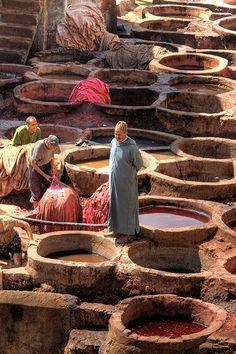 Fez tannery.   - Maroc Désert Expérience