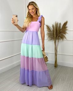 Cute Dresses, Beautiful Dresses, Casual Dresses, Fashion Dresses, Formal Dresses, Summer Gowns, Summer Outfits, Mode Hijab, Outfit Posts