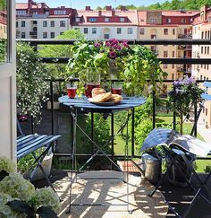 Cozy Balconies - small folding table and shairs