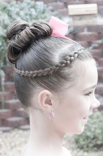 Dance Do @ Princess Piggies - this is a tight hairstyle that will hold up through any dance performance!