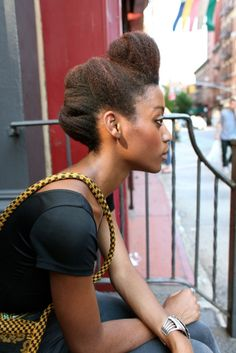Nice and simple kinky updo
