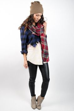 Bleached Ombre Flannel